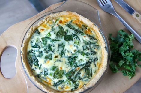 Spinach, Kale and Feta Quiche   Whisk & Knife
