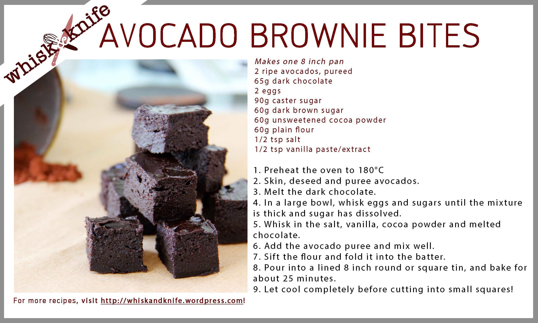 Avocado Brownie Bites Whisk Amp Knife