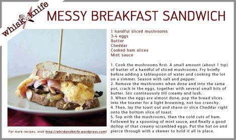Breakfast Sandwich Card