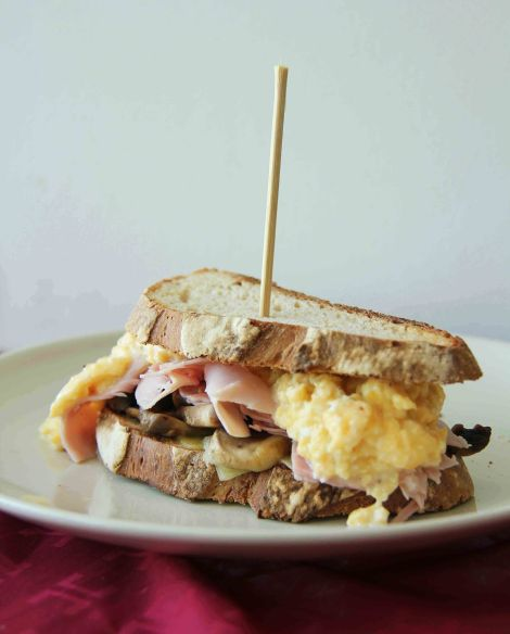 Messy Breakfast Sandwich