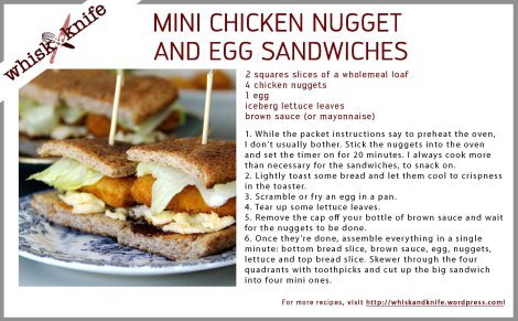Nugget Sandwich Card
