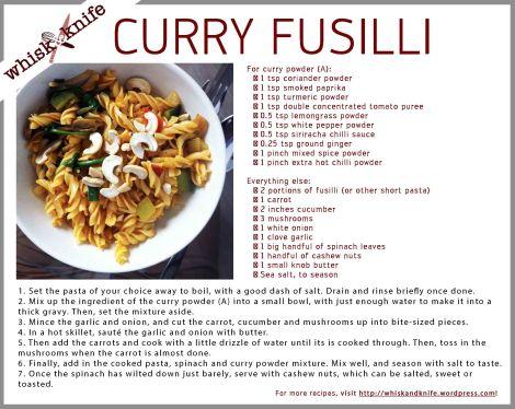 Curry Fusilli Card