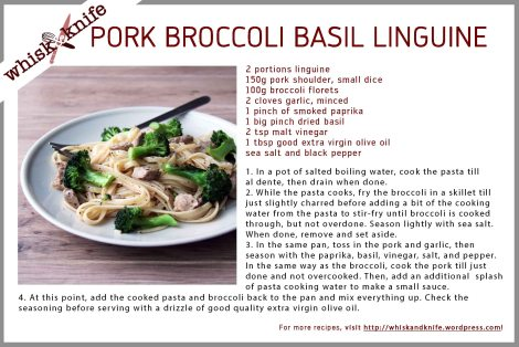 pork broccoli linguine card