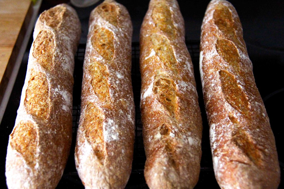 Organic Wholemeal Baguettes