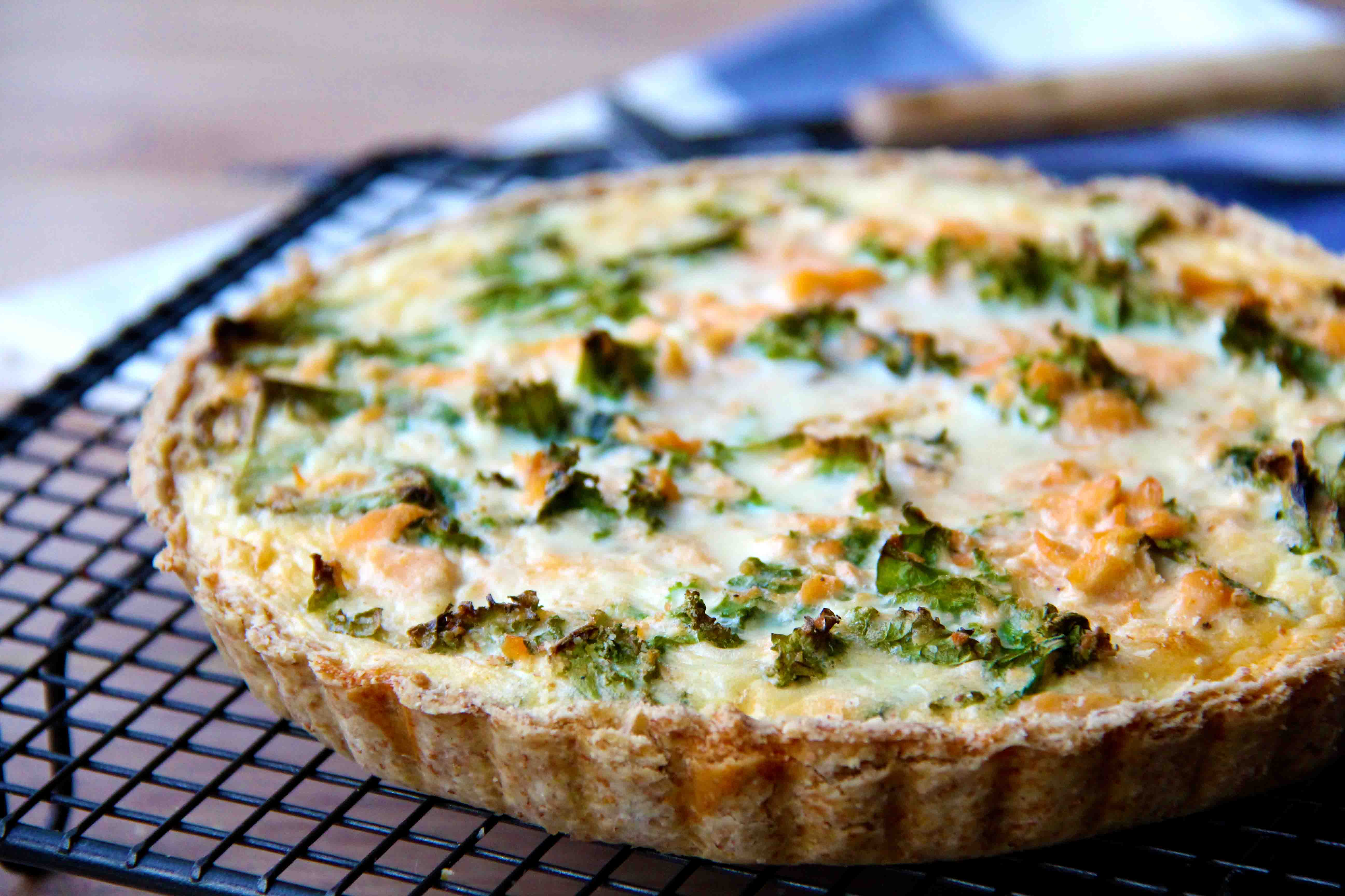 Whisk knife good food made simple salmon kale quiche forumfinder Image collections
