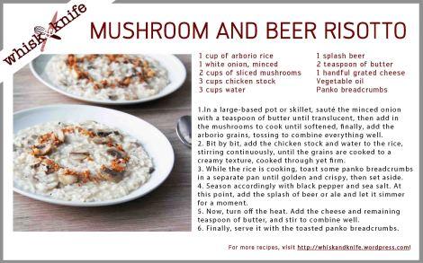 mushroom risotto card