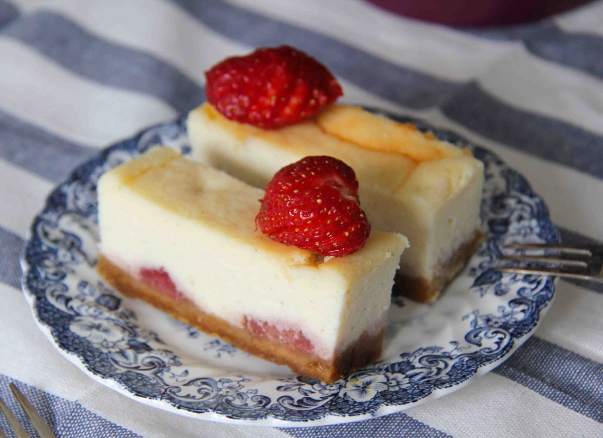 Strawberry Ricotta Cheesecake